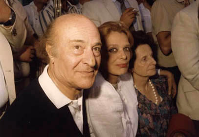 <p>Odysseas Elytis, Melina Mercouri and Eleni Kazantzaki at the museum opening ceremony on 27<sup>th</sup> June 1983</p>